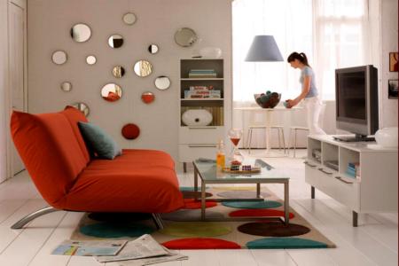 El color del sofá