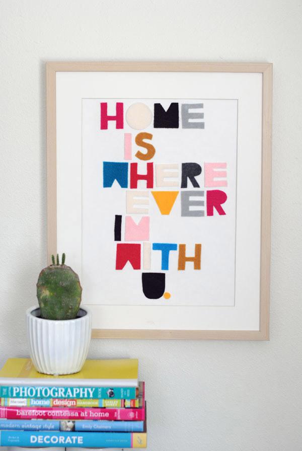 cuadro con letras
