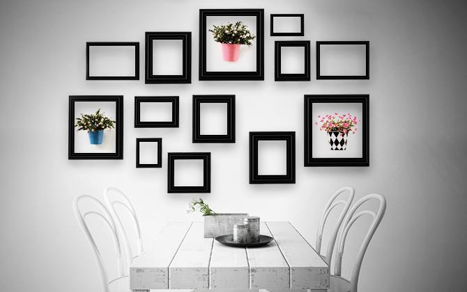 decoración con cuadros
