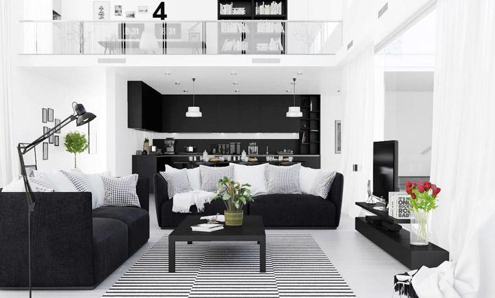 ¿Cómo hacer una decoración con color negro y que se vea bien?
