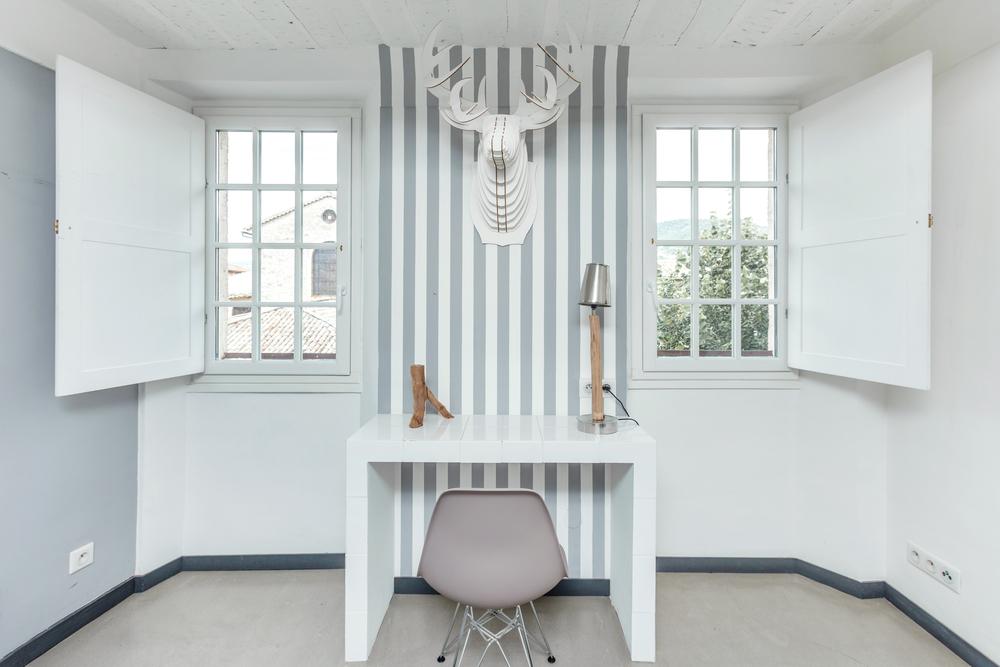Decoraciones con rayas en interiores
