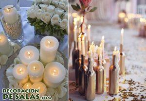 Decoración exterior con velas