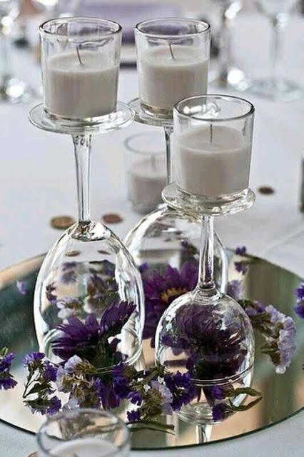 copas en la mesa