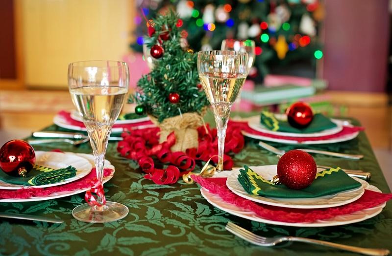 Manteles para decorar la mesa de navidad