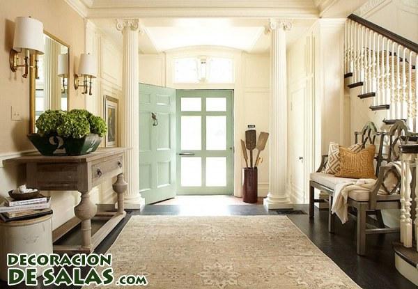 3 ideas para decorar un recibidor amplio
