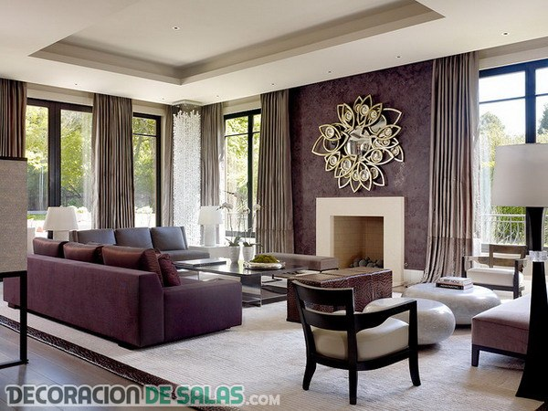 Salones con una clara decoración elegante