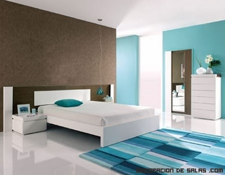 Dormitorios en color azul