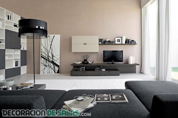 Diseño de salones en tonos grises ahumados