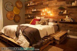 Ejemplos de dormitorios hechos con muebles reciclados