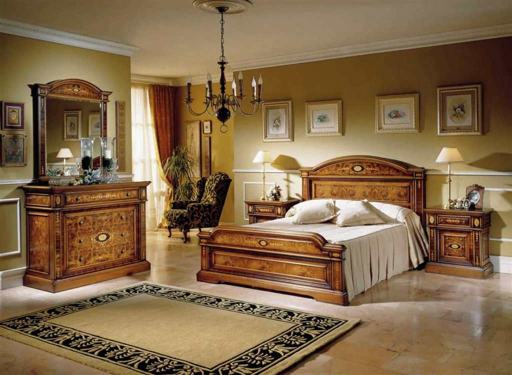 Dormitorio de madera clasico