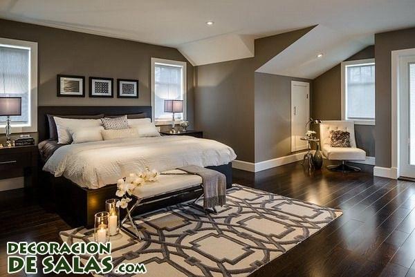 Dormitorios en los que predomina el color marrón