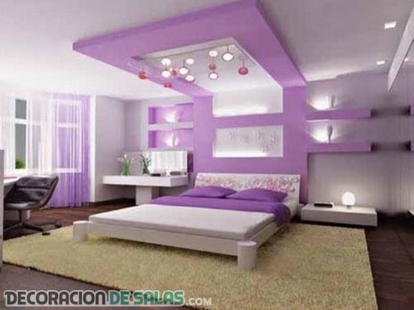 La calidez del color lila en los dormitorios