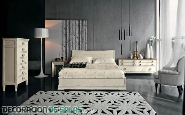 Dormitorios en colores neutros