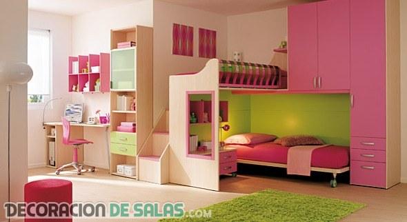 Dormitorios para chicas modernos y juveniles