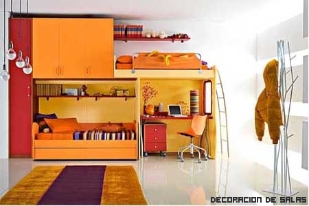 Dormitorio infantil rectangular