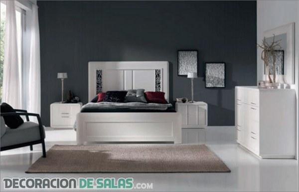 Dormitorios elegantes con madera blanca