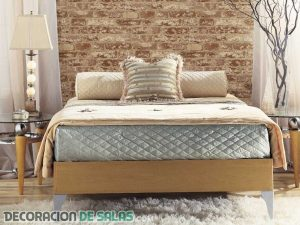 Dormitorios con paredes de ladrillo