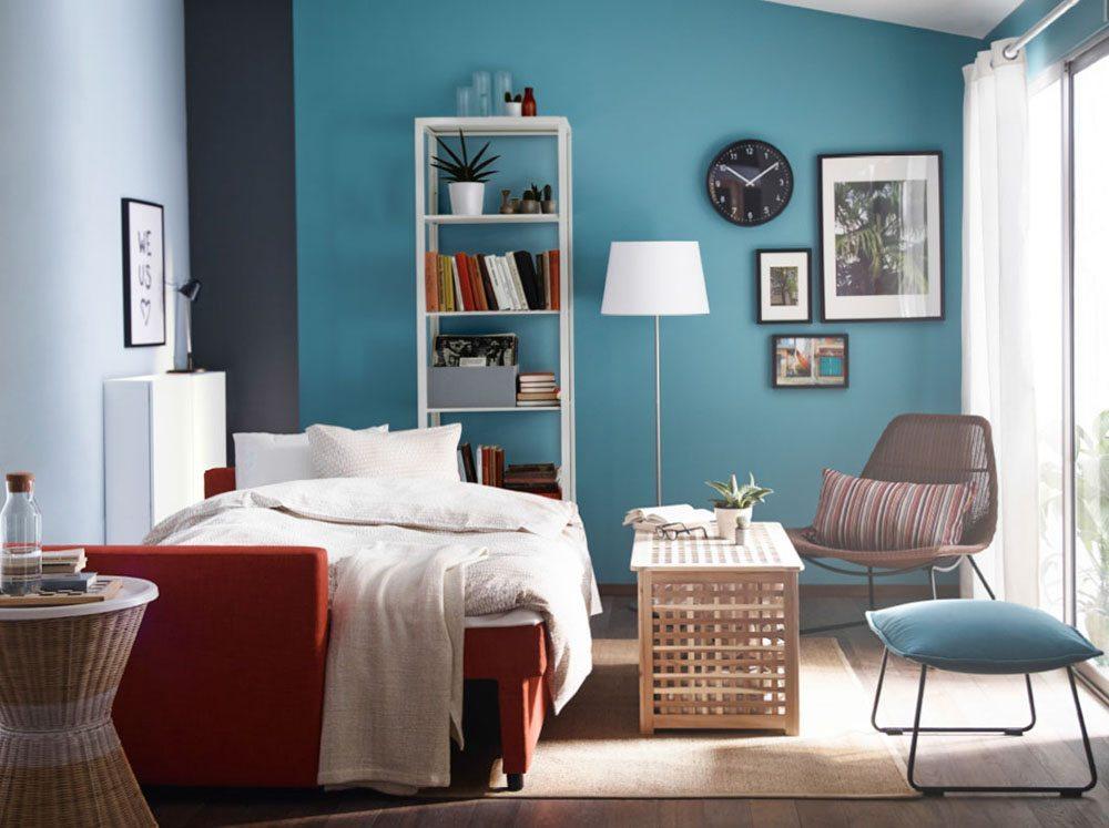dormitorio tonos azules casa