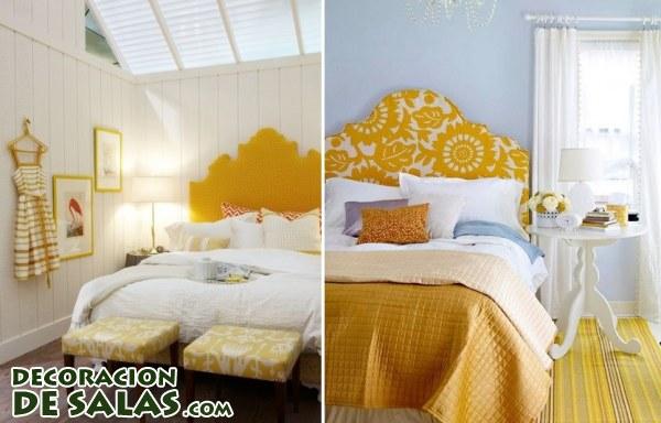 Dormitorios en color amarillo