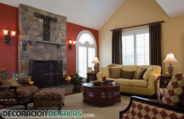 Cómo decorar el salón con dos colores