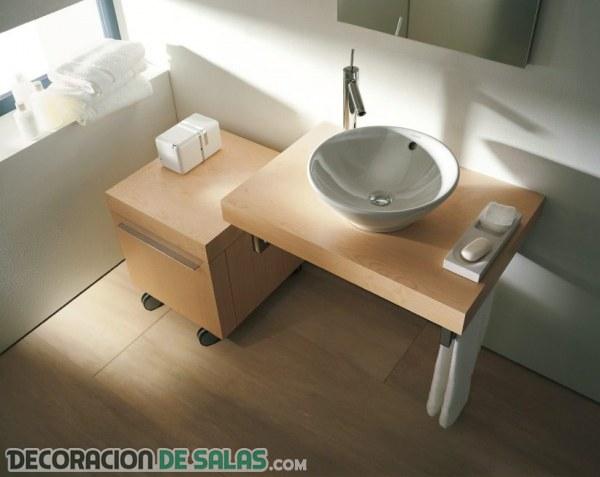Ideas para almacenamiento en baños