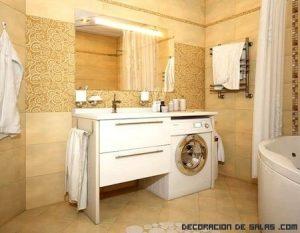 Coloca tu lavadora en el baño