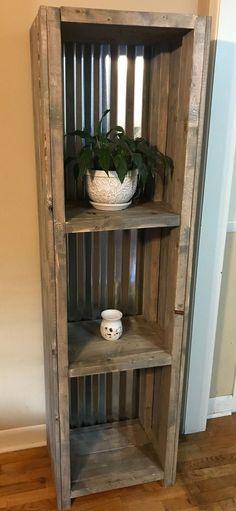 estanteria de madera reciclada