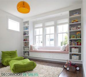 Estanterías infantiles en los dormitorios más modernos