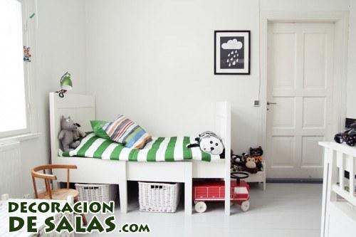 Estilo nórdico en habitaciones infantiles