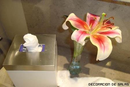 Flores para el baño