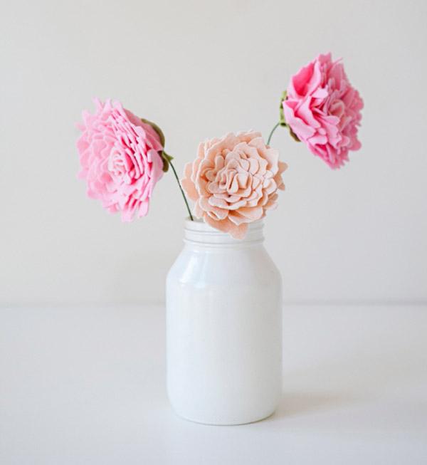 flores en jarron
