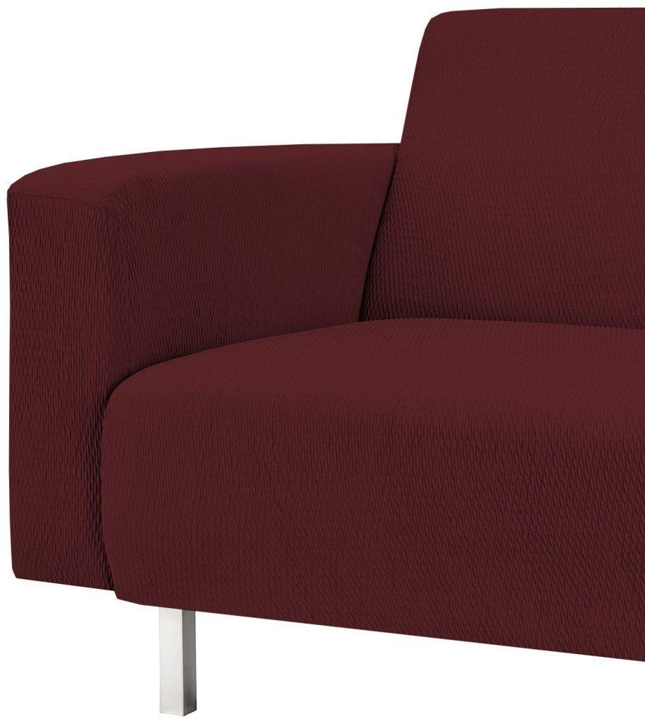 Funda roja para el sofá