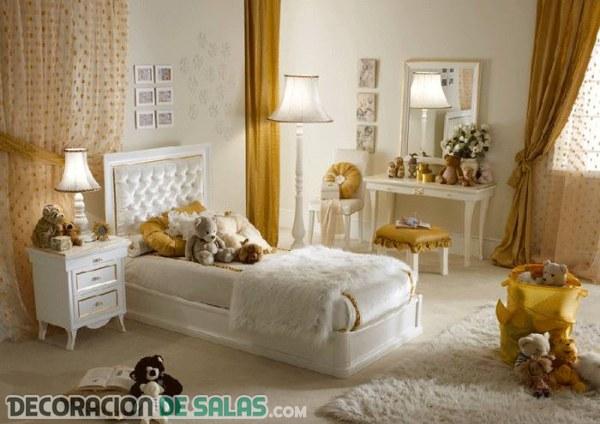 Habitaciones en color dorado