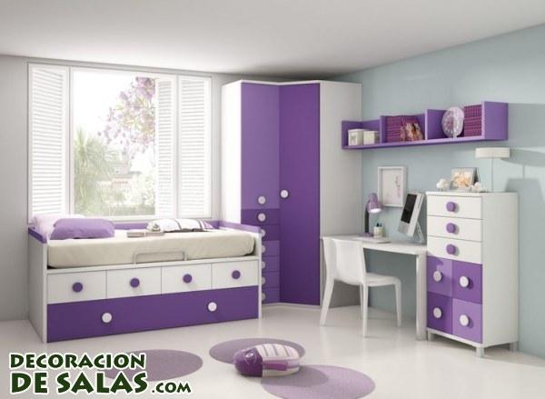 Dormitorios en malva