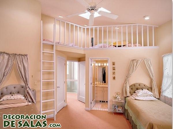 Habitaciones amplias y originales para niñas