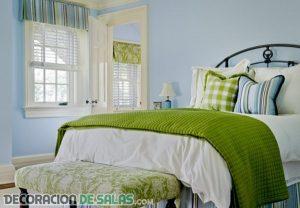 Tres colores para un dormitorio con mucho estilo
