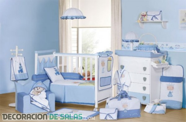 Ideas de habitaciones en azul para bebé