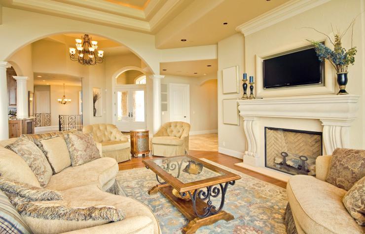 decoracion clasica moderna dormitorio lujoso