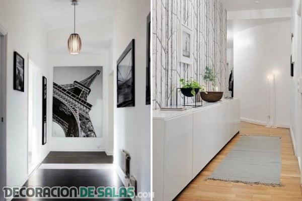 C mo decorar los pasillos estrechos decoraci n de salas - Como decorar pasillos estrechos ...