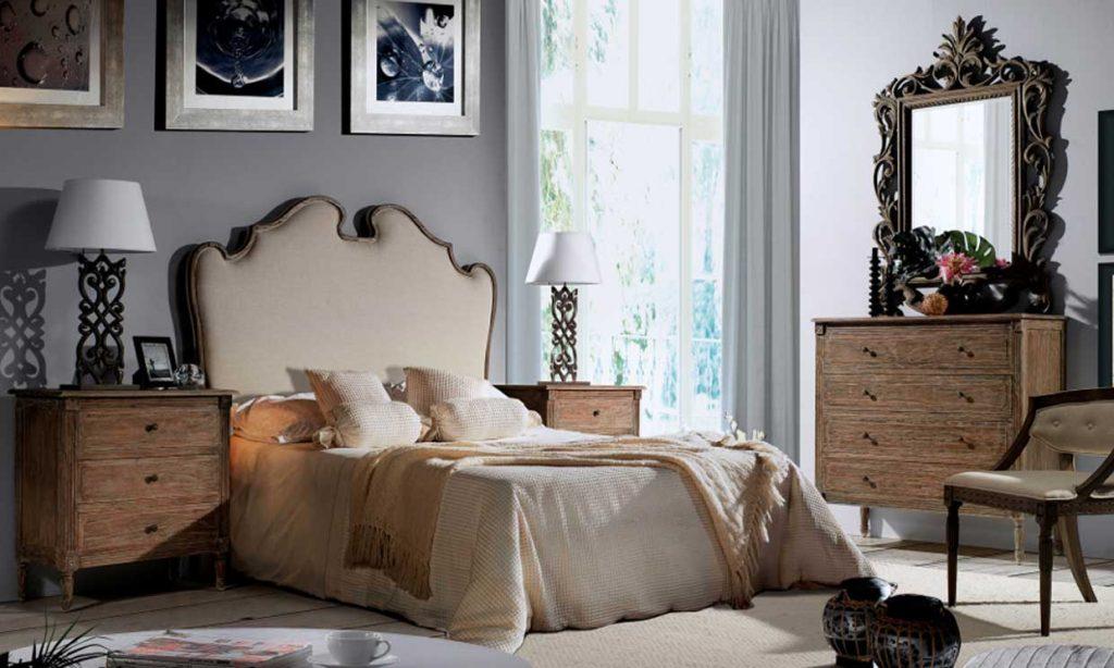 ideas dormitorios clasicos gris y marron claro