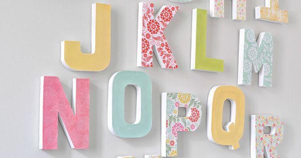 letras en habitaciones infantiles