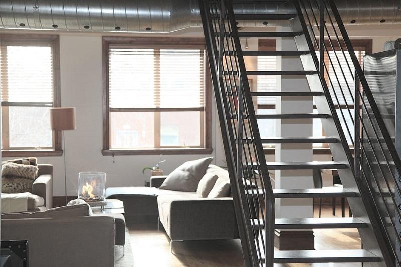 Loft con escaleras