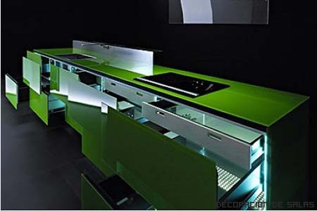 Materiales para los muebles de la cocina