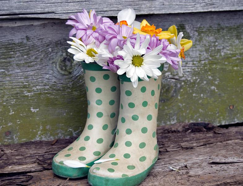 manualidad flores