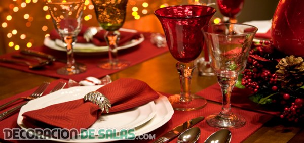 Mesas decoradas para Navidad