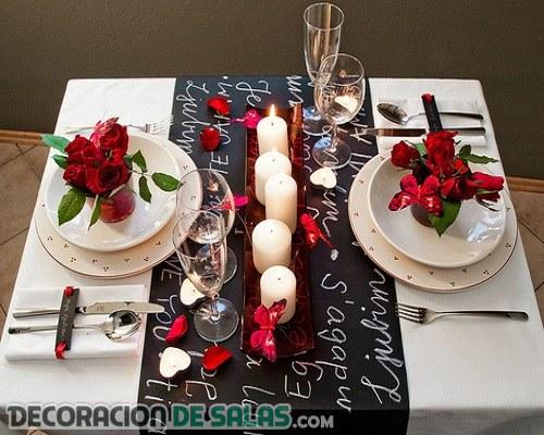 Distintas mesas para un mismo San Valentín
