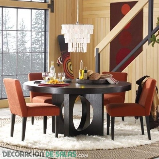 Mesas de comedor con forma redonda