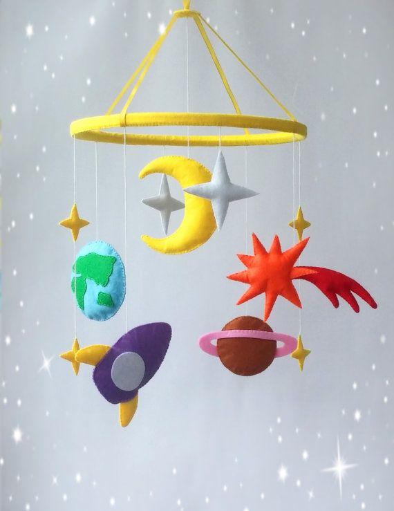 estrellas y planetas móvil colgante
