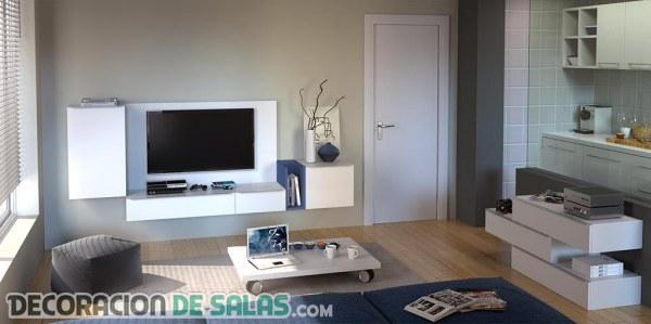 Muebles perfectos para salones pequeños