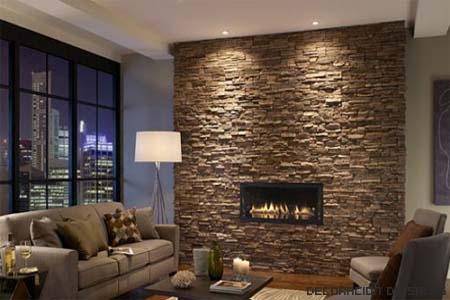Paneles de piedra para las paredes